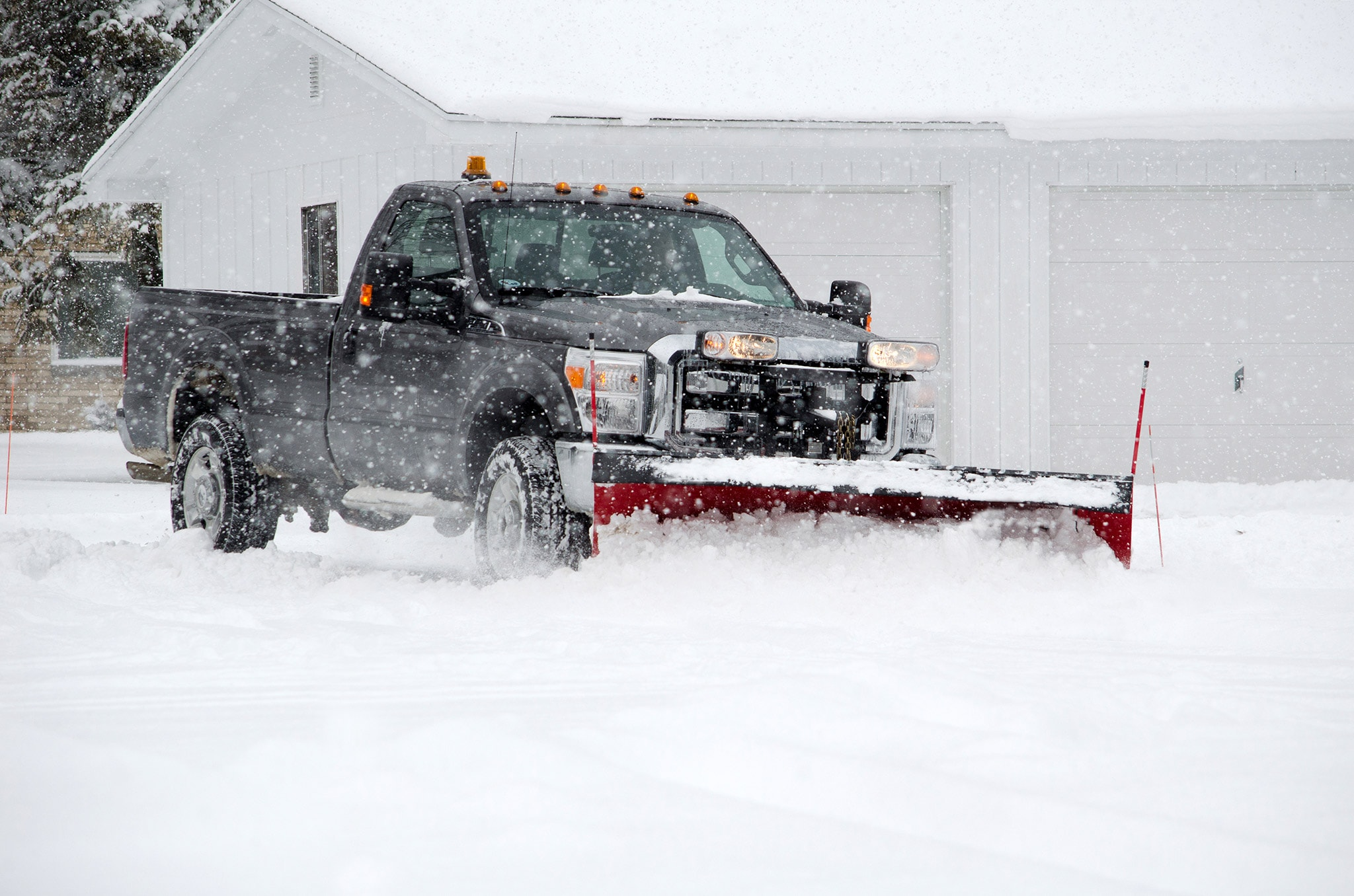 Eastern Paving CT truck with snow plow attached